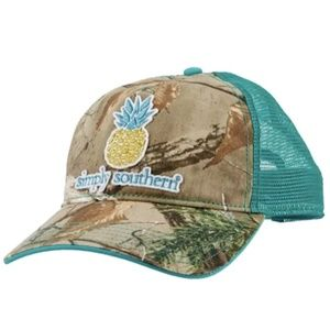 Simply Southern  Realtree Camo Pineapple Hat New